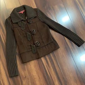 🧥 Brown Sweater Jacket Size S